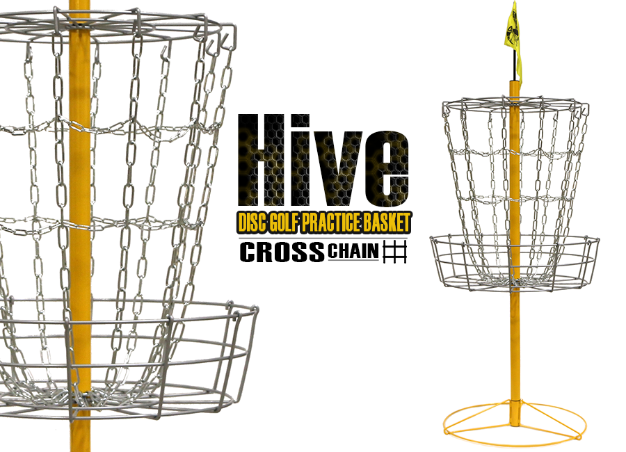 Hive Cross Chain Disc Golf Practice Basket