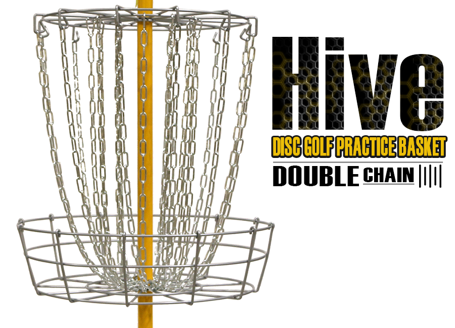 Hive Double Chain Disc Golf Practice Basket